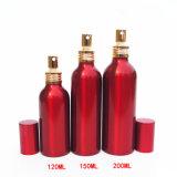 Botella de perfume cosmética de aluminio roja del petróleo esencial (NAL0602)