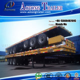 Tri-Axle 20/40ft Container Semi Trailer, Flatbed Trailer Truck