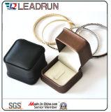Rectángulo de papel plástico del terciopelo de cuero de la calidad y del lujo para las mancuernas pendientes del regalo del collar de la pulsera del brazalete de los pendientes del anillo de la joyería (YS30A)