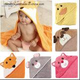 100%年の綿の卸し売り赤ん坊のフード付きの浴室毛布