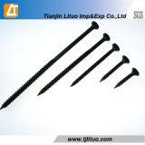 Parafuso fosfatado/fino/grosseiro do preto da linha do Drywall