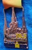 Médaille personnalisée de souvenir, la Nouvelle-Orléans, homme de fer, or plaqué
