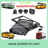 cartão DVR móvel de 3G/4G/GPS/WiFi 4CH SD para sistema do CCTV do veículo/barramento/carro/caminhão