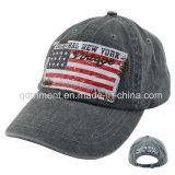 洗浄された顔料によって染められるプリントアップリケ刺繍の野球帽(TMB0730)