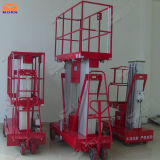 arbeitsbühne-Aufzug des doppelten Mast-10m Aluminium