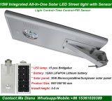 Fabrik-Preis 5W 8W 12W 15W 20W 25W 30W 40W 50W 60W 70W 80W 100W alle in einem Solarstraßenlaterne, integriertes Solarstraßenlaterne