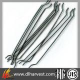 Fibra d'acciaio W-Lcs/50/100he dell'acciaio a basso tenore di carbonio della Cina per il calcestruzzo di rinforzo di Shortcrete