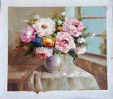 Handmade (KFOP-077)의 높은 Quality Knife Flower Oil Painting