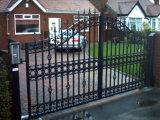 Alas dobles decorativas Puertas de seguridad de hierro forjado