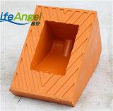 Schwarze, orange Farben-haltbarer Gummirad-Keil