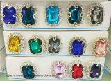 Het Plaatsen van de Klauw van het Frame van de Fabriek van de Versiering van het bergkristal de Gouden Steen van het Glas van het Kristal (sW-Rechthoek 10*14)