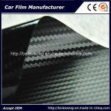 film de vinyle d'enveloppe de fibre du carbone 3D
