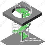 실내 주거 금속 나선형 계단 디자인