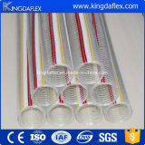 PVC Industrial Transparent Spiral Steel Wire Tuyau d'aspiration renforcé