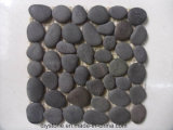 Micro mattonelle del ciottolo di formato nero delle mattonelle