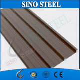 Hoja de acero acanalada galvanizada prepintada del material para techos PPGI