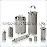 Elemento de filtro de alto caudal de malla de acero Basket