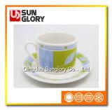 Bd009の卸し売りまっすぐなコーヒーカップ・アンド・ソーサー