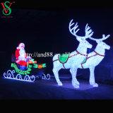 Iluminação ao ar livre dos cervos decorativos do diodo emissor de luz