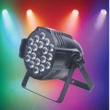 Luz impermeável Full-Color da PARIDADE para o casamento 4PCS/18PCS 4 em 1 luz da música dos discos da lâmpada