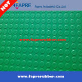 둥근 Stud Rubber Flooring Mat 또는 반대로 Fatigue Coin Pattern Rubber Mat.