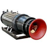 Type de voie de guide de Sledged pompe d'écoulement axial submersible pour la lutte contre les inondations
