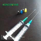 3-deel Medical Disposable Plastic Syringe met Needle (5ml)