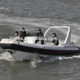 Venda inflável do barco do reforço da fibra de vidro do barco de motor da velocidade de Liya 7.5m