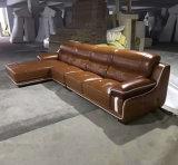 Mobília européia do sofá do couro de grão da parte superior da alta qualidade (A15)