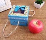 Niza rectángulo de regalo modificado para requisitos particulares de Apple de la Navidad con el Bowknot y la ventana, rectángulo de regalo de la mano, rectángulo de regalo cuadrado, rectángulo de regalo de papel