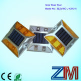 Europa Introduziu Alumínio Alloy Solar Road Stud / LED Flashing Road Marker