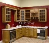 Gabinete de cozinha tradicional personalizado #160 da madeira contínua