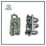 Type particulier galvanisé d'IMMERSION chaude clip/bride de câble métallique de triple