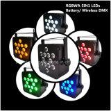 banquete de boda sin hilos de la luz del punto de la IGUALDAD de la batería de 12X10W RGBWA 5in1 LED