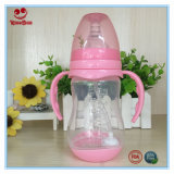 frascos de leite plásticos da garganta 240ml larga com punho e base