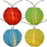 De la lanterne 2 jardin extérieur 10LED de pouce de chaîne de caractères d'usager multicolore féerique solaire de lumière