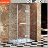 impression de Silkscreen de 3-19mm/gravure à l'eau forte acide/verre trempé givré/de configuration sûreté pour la maison, salle de bains d'hôtel/douche/pièce jointe de douche avec le certificat de SGCC/Ce&CCC&ISO