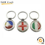 Metal Epoxy Logo Flag Key Chains pour la publicité Ym1013