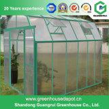 Niedriger Preis-Garten-Gewächshaus mit Regalen