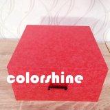 Rectángulo de regalo rojo del embalaje de la visualización de la joyería de la alta calidad