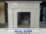 Mão Carved Natural Marble Stone Fireplace para Indoor Decoration