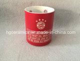 De Mok van de Herinneringen van Beieren, zandstraalt Ceramische Mok, de Mok van de Gift van de Club van de Voetbal