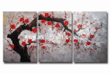 Pintura al óleo moderna de la flor de la lona