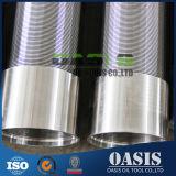 Qualität AISI304 quellen Filtrationsschirm-Gehäuse-Rohr/Johnson-Draht eingewickelte Bildschirme hervor