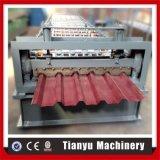 Rolo ondulado da chapa de aço da cor do metal que dá forma à máquina