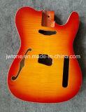 Corps télé- de guitare de qualité de cavité faite sur commande semi