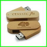 Disque en bois de flash USB de carte mémoire Memory Stick de pilote USB d'émerillon