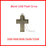 Movimentação transversal do flash do USB do USB Pendrive Jesus da colar do metal