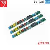 bloc d'alimentation de lumière du tube 5-12W d'isolement par Hpf avec du ce RoHS EMC QS1101