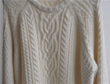 Damenwinter gekopierte Knit-Pullover-Strickjacke